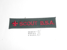 Program Strip - Scout B.S.A. on explorer green cloth