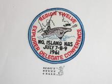 Region Twelve (12) 1961 Explorer Delegate Conference Patch