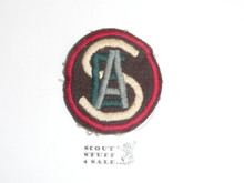 Texas Area Explorer Air and Sea Scout Patch on felt, sewn