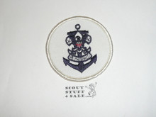Sea Scout Universal Emblem Patch on White Twill, 1980's