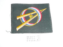 Explorer Scout Universal Emblem from the 1970's in Green with cut edge border