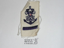 Sea Scout Rank Patch, Apprentice on White Twill, 1960's