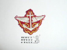 Explorer Apprentice Patch, CAW small cut out Patch on Red, Lite Use
