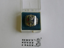 Eagle Scout Ring, 1940's STERLING Silver, Mint Condition, lite tarnish but can be polished, Size 6, Can be sized to fit