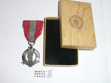 Air Scout Ace Medal, Type 2, 1940's, Lite wear, STERLING Silver in Original Box, ULTRA RARE!