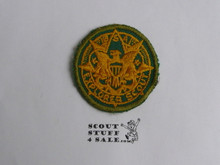 Exploring Youth Medallion Patch, 1950's, lite Use