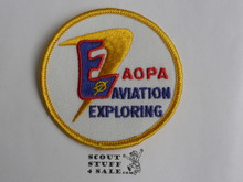 Aviation Exploring Patch in partnership with Aircraft Owners and Pilots Association, 1960's, SCARCE