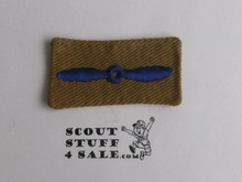Air Scout Candidate Tenderfoot Patch, 1940's, material folded under