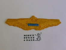 Air Scout Assistant Flight Pilot Gold Wings, 1940's