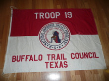 1957 National Jamboree Troop 19, of the Buffalo Trail Council, Troop Flag