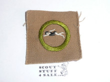 Swimming - Type A - Square Tan Merit Badge (1911-1933) 16474