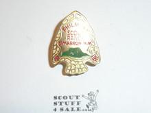 Philmont Scout Ranch Metal Neckerchief Slide, Gold Arrowhead