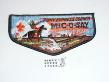 Tribe of Mic-O-Say (Pony Express Council) 1985 60th Anniversary Flap Patch