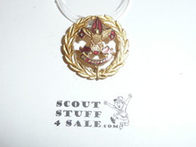 Assistant District Executive / Council Executive Staff Collar Brass, Tall Crown, Horizontal Spin Lock Clasp