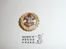 Assistant Scout Executive Collar Brass, Tall Crown, Vertical Bent Wire Clasp