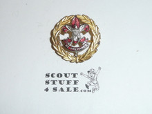 Assistant Scout Executive Collar Brass, Tall Crown, Horizontal Spin Lock Clasp
