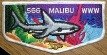 Order of the Arrow Lodge #566 Malibu 25 - 2007 Flap Patches - This is for 25 flap patches