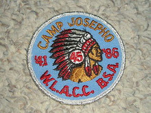 1986 Camp Josepho Patch - 45th Anniversary #2