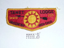 Order of the Arrow Lodge #225 Tamet s2 Flap Patch, used