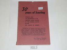 1940 30th Annual Meeting of the National Council of the Boy Scouts of America Book, 168 pages