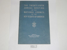1935 25th Annual Meeting of the National Council of the Boy Scouts of America Book, 103 pages