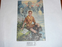 1937 National Jamboree Post Card, Famous Christy Painting