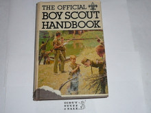 1979 Boy Scout Handbook, Ninth Edition, First Printing, RARE hardbound copy with flyleaf by Simon and Schuster, MINT condition book with some flyleaf damage, Last Norman Rockwell Cover