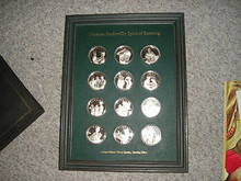 Norman Rockwell's Spirit of Scouting 12 Silver Coin/medal Set from the 1970's, as pictured, no slip case
