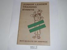 Junior Leader Training Events, 9-58 printing