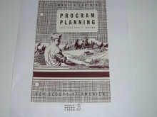 Scoutmaster Training, Program Planning Instructor's Manual, 7-49 printing
