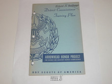 Arrowhead Honor Project Book, District Commissioner Training Plan, 11-54 printing