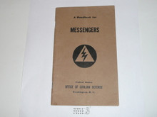 WWII Messengers Handbook for Boy Scouts, US Office of Civil Densense made for Boy Scouts