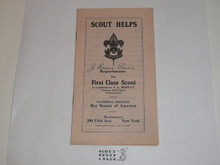 1920's Requirements for the First Class Scout, Scout Helps, Lefax Size