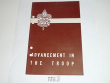 Advancement in the Troop, 10-56 Printing, punched for a binder