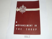 Advancement in the Troop, 3-51 Printing, punched for binder