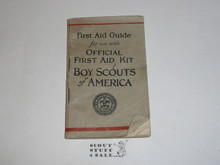 First Aid Guide from the Official Boy Scout First Aid Kit, 1928 Printing