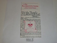 The Constitution of the United States, Boy Scout Publication, 1980's Printing