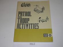 Patrol and Troop Activities Book, 1986 Printing