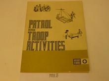 Patrol and Troop Activities Book, 8-74 Printing