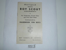 1947 Realigned Basic Boy Scout Requirements, 4-47 Printing