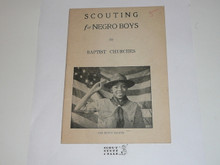 Baptist, Scouting for Negro Boys in Baptist Churches, 1930's printing