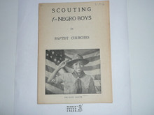 Baptist, Scouting for Negro Boys in Baptist Churches, 1930's