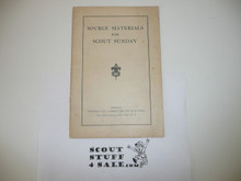 Protestant, Source Materials for Scouts Sunday, 1930's