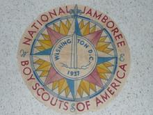 "Center portion for a 1937 National Jamboree Flag, 23"" Diameter"