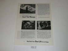 Topic Reprint, Send That Message Boys' Life Single Topic Reprint #BL-7