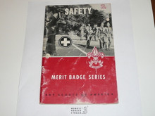 Safety Merit Badge Pamphlet, 1-61 Printing, lt wear to cover