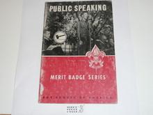 Public Speaking  Merit Badge Pamphlet, 4-64 Printing