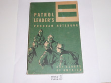1961 Patrol Leader's Program Notebook, MINT Condition