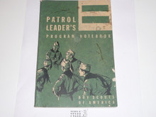 1964 Patrol Leader's Program Notebook, Unused but cover dirty