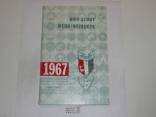 1967 Boy Scout Requirements Book, 12-66 Printing